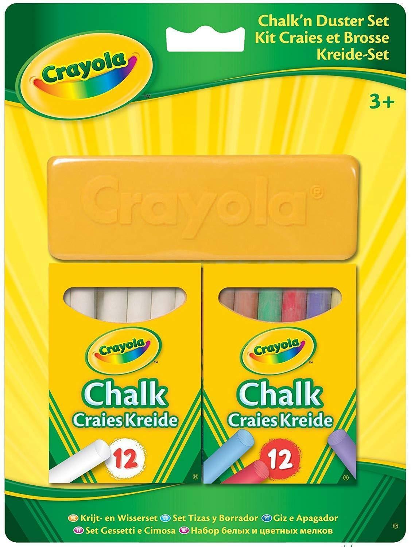 crayola set 24 gessi + cancellino