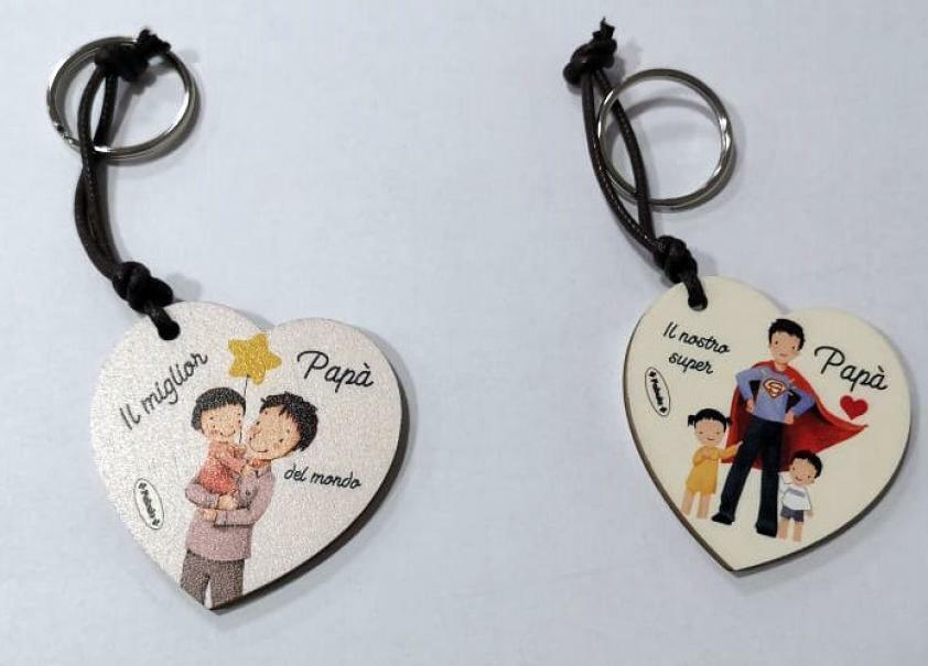 giocattoli portachiavi cuore festa del papa 6 cm