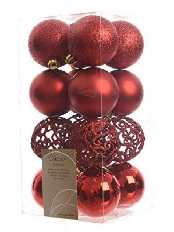 kaemingk kaemingk 16 palle r 6 cm - colore rosso