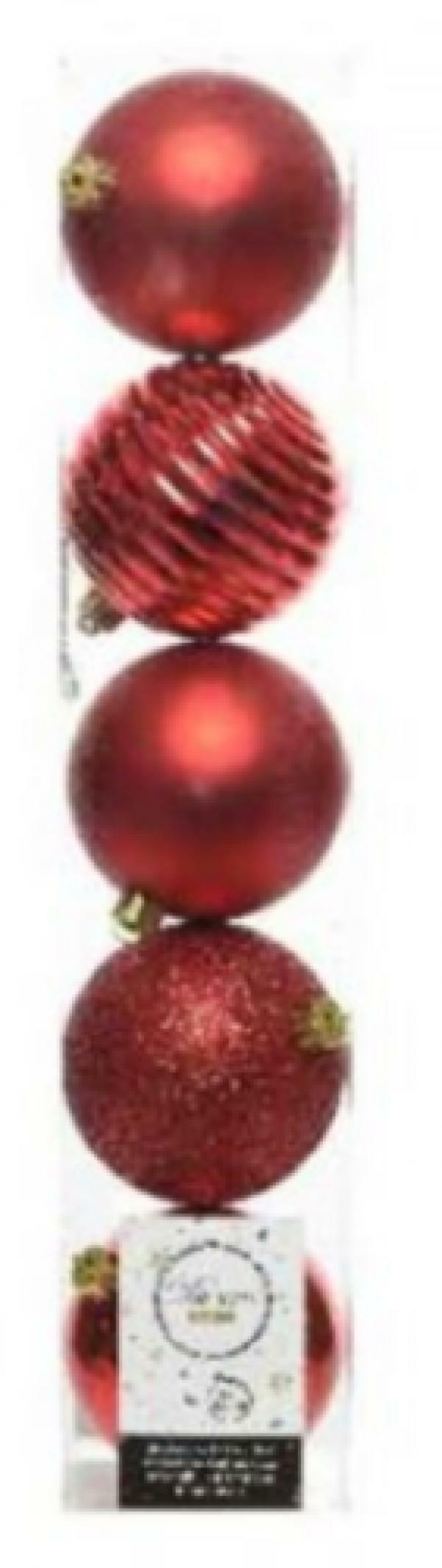 kaemingk kaemingk 5 palle r 8 cm - colore rosso
