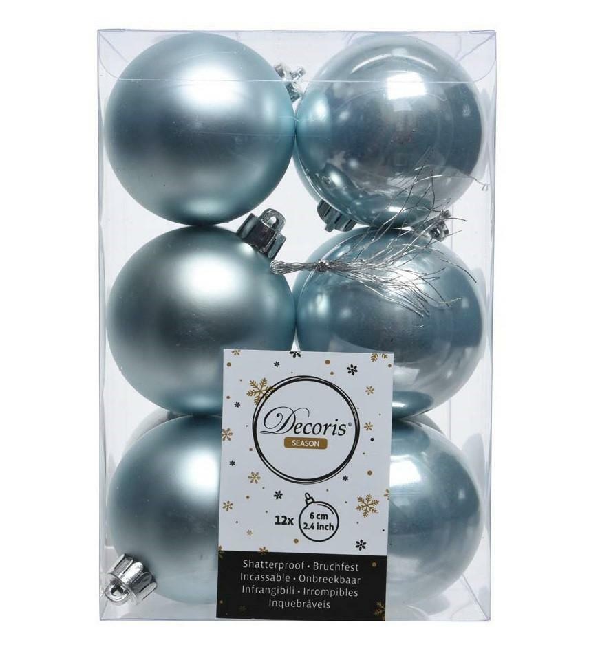 kaemingk kaemingk 12 palle r 6 cm - colore blu nebbia