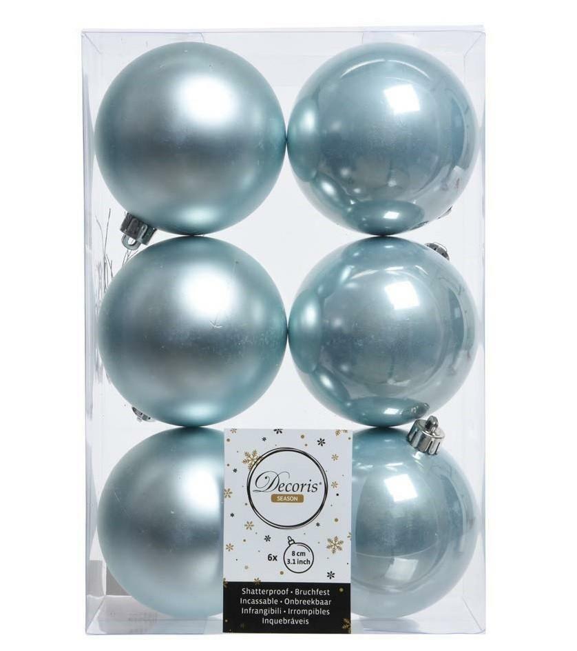 kaemingk kaemingk 6 palle r 8 cm - colore blu nebbia