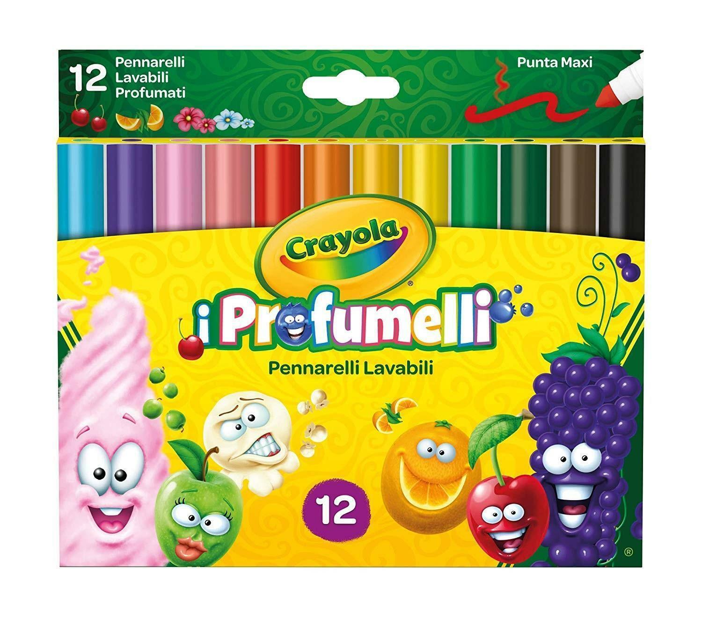 crayola 12 pennarelli lavabili punta maxi i profumelli