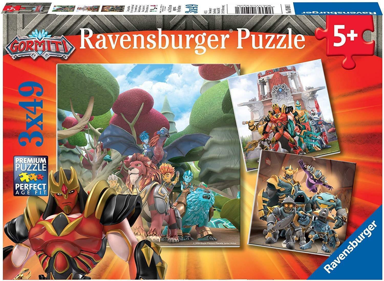 ravensburger ravensburger puzzle 3x49 pz gormiti