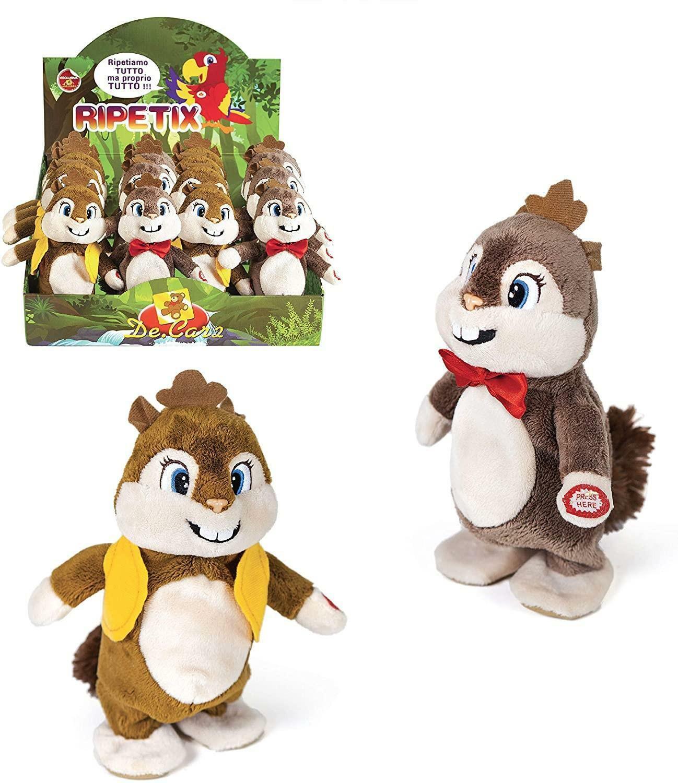 decar2 decar2 scoiattolo ripetix 20 cm - ripete e cammina
