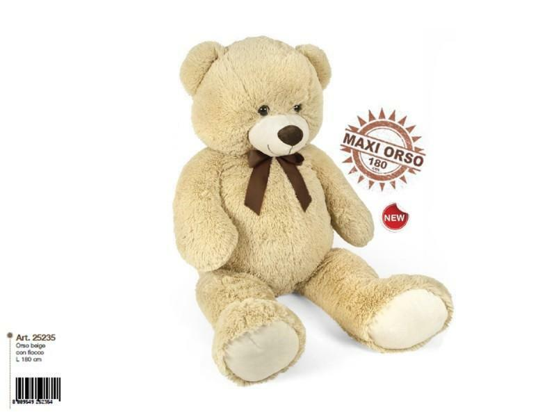 decar2 maxi orso con fiocco 150 cm beige