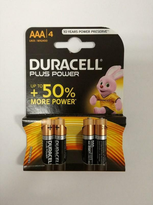 duracell duracell aaa 4 lr03 1.5 v size s