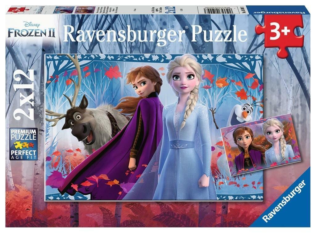 ravensburger ravensburger puzzle 2 x 12 pz - frozen 2