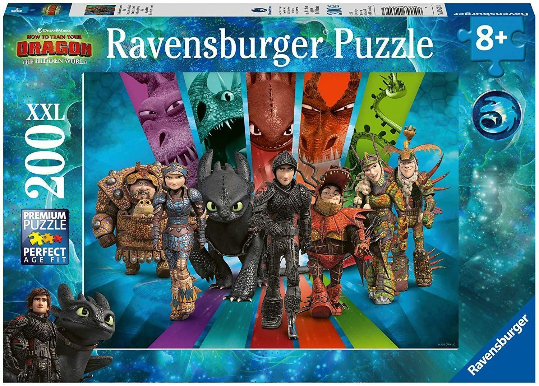 ravensburger ravensburger puzzle 200 pz xxl - dragons 3