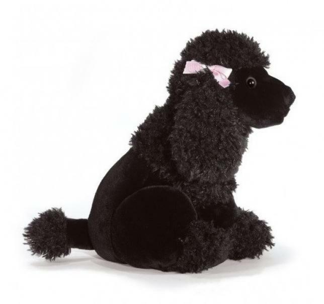 plush & company plush & company peluche barboncino nero black bizar cm 30
