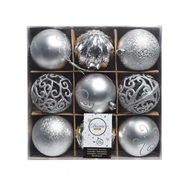 kaemingk kaemingk 9 palle r 8 cm - colore argento