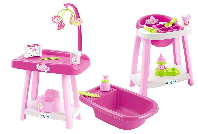 smoby ecoiffier set nursery per bambole