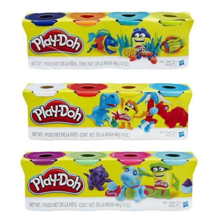 hasbro hasbro play-doh confezione 4 vasetti pasta da modellare