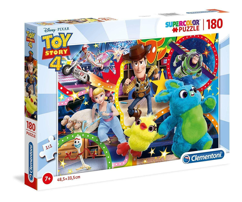 clementoni puzzle 180 pz - supercolor disney toy story 4