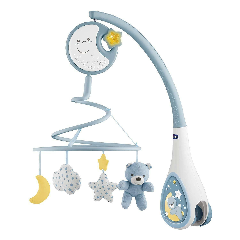 chicco chicco next2dreams giostrina 3 in 1 - azzurra