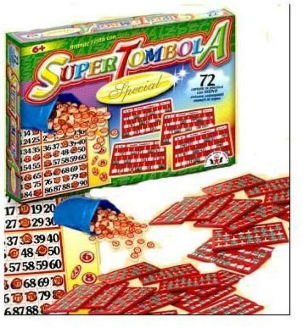giocattoli tombola special 72 cartelle