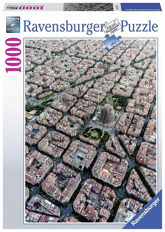 ravensburger ravensburger puzzle 1000 pz barcellona dallalto