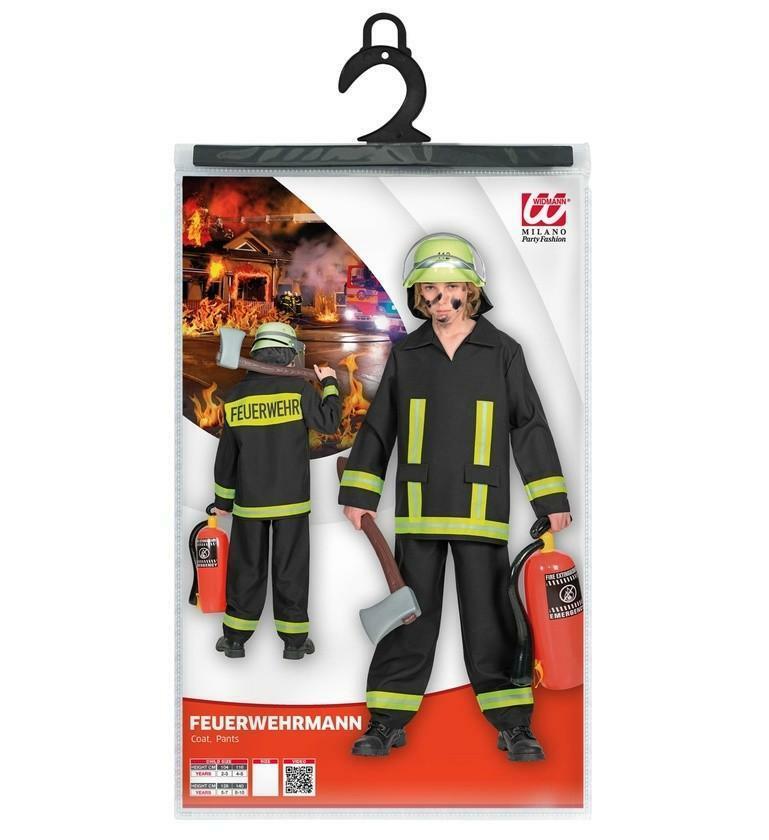 widmann widmann costume pompiere 8/10 anni 140 cm