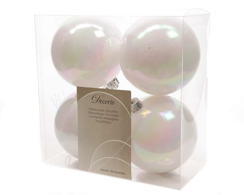 kaemingk kaemingk 4 palle r 10 cm - colore bianco perla lucido