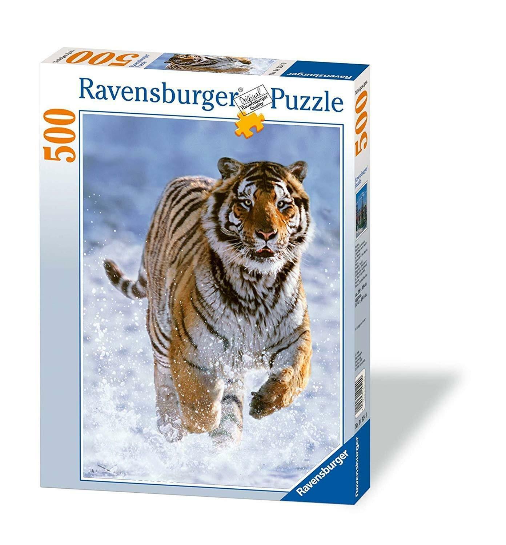 ravensburger ravensburger puzzle 500 pz - tigre nella neve
