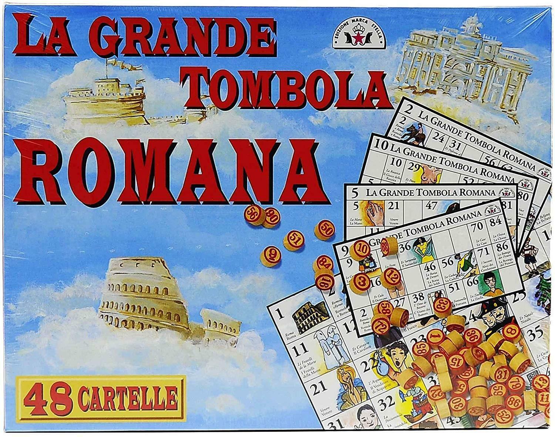 giocattoli la grande tombola romana 48 cartelle