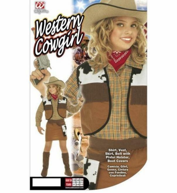 widmann widmann costume western cowgirl 5/7 anni 128 cm