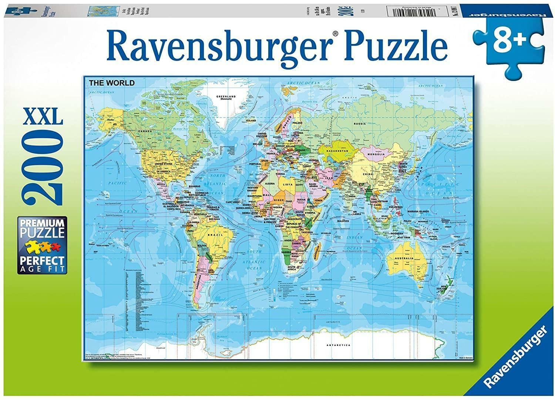 ravensburger ravensburger puzzle 100 pz xxl - mappa del mondo