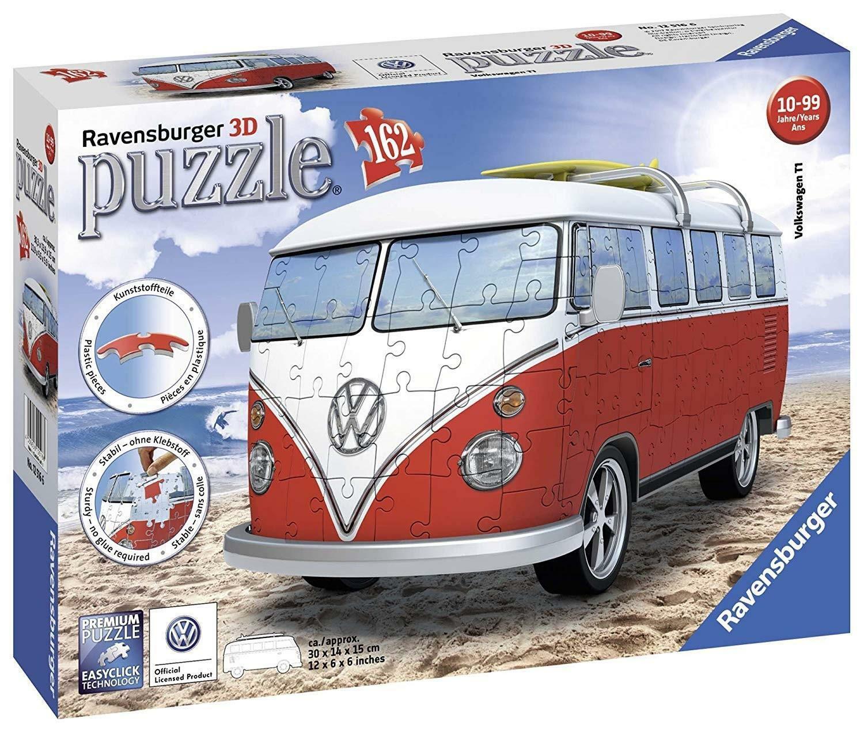 ravensburger ravensburger 3d puzzle 162 pz - pulmino volkswagen