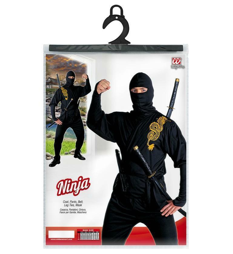 widmann widmann costume ninja drago nero taglia s