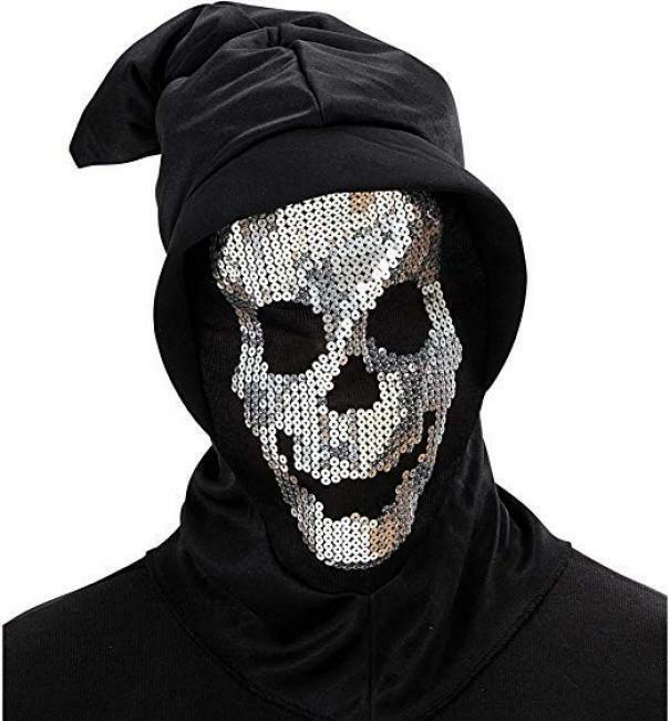 widmann widmann maschera cappuccio teschio paillettes