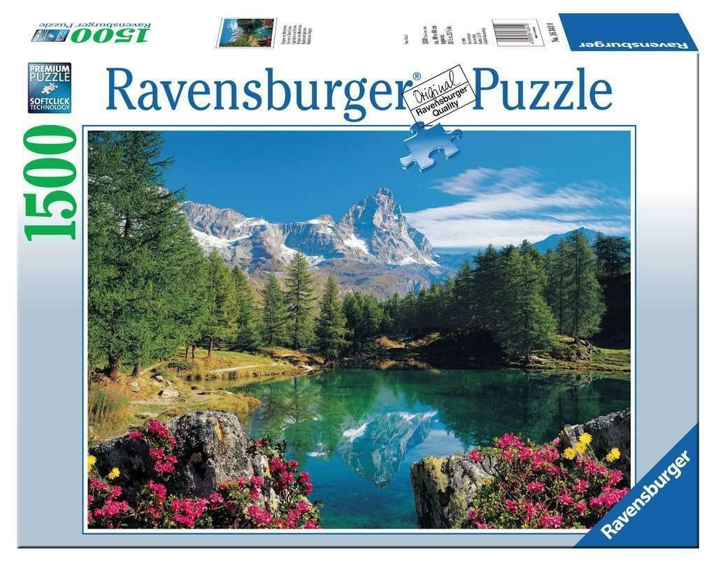 ravensburger ravensburger puzzle 1500 pz - lago alpino con cervino