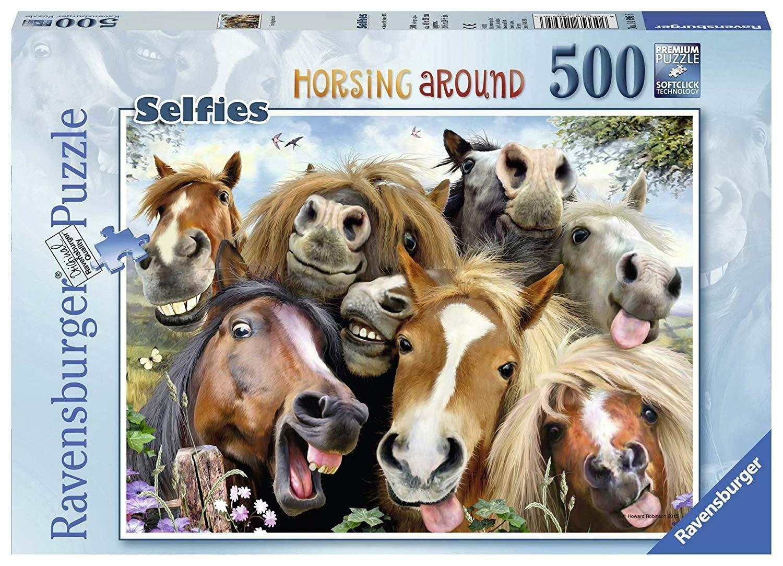 ravensburger ravensburger puzzle 500 pz - selfie in fattoria