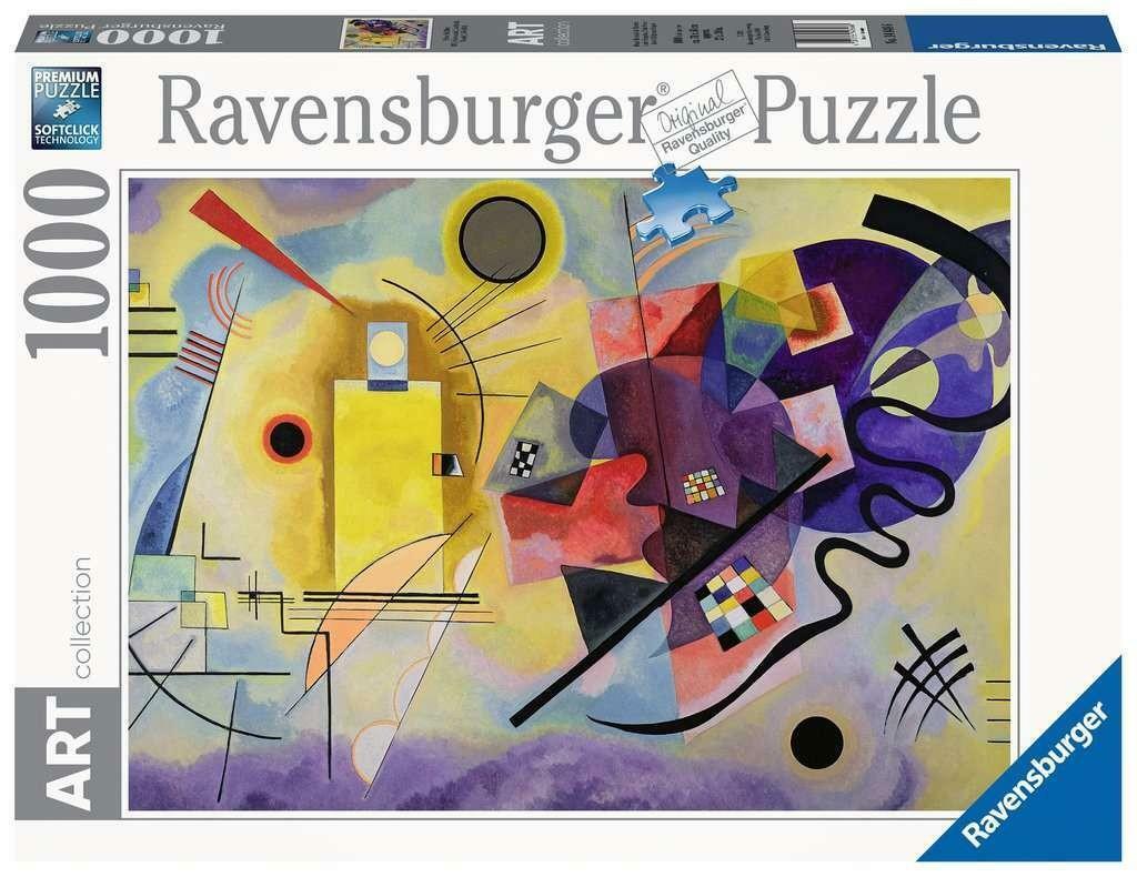 ravensburger ravensburger puzzle 1000 pz - yellow, red, blue (kandinsky)