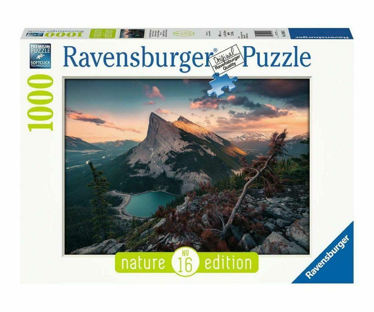ravensburger ravensburger puzzle 1000 pz - tramonto in montagna