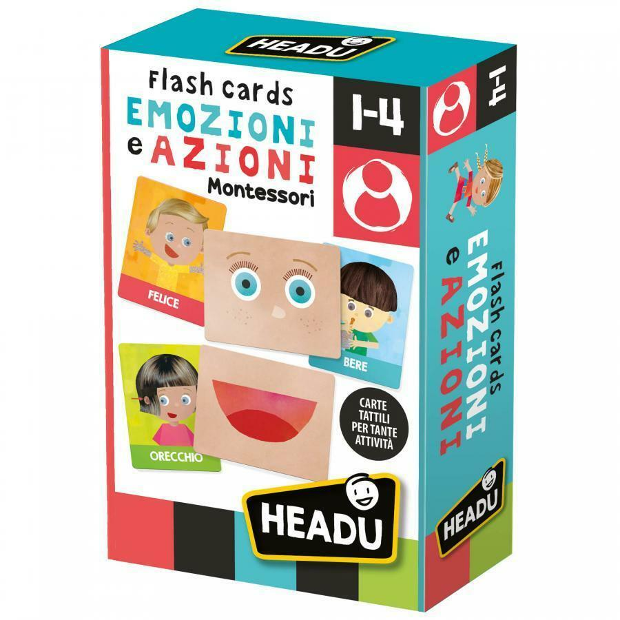 headu headu flashcards montessori emozioni e azioni