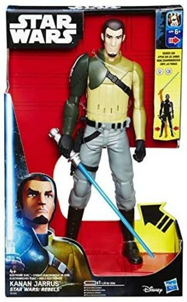 hasbro star wars rebels - kanan jarrus elettronico 30 cm