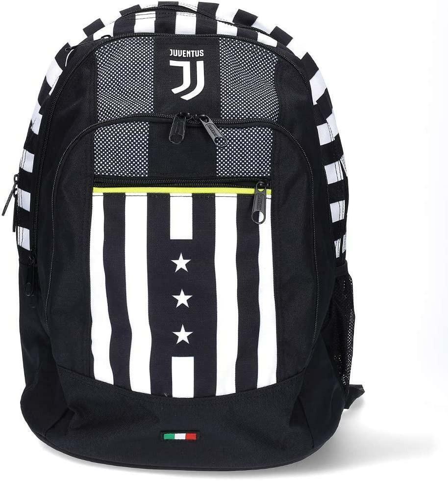 seven seven schoolpack juventus - zaino advenced + astuccio quick case completo + orologio