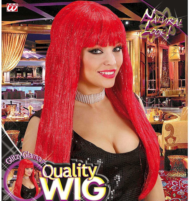 widmann widmann parrucca glitzy glamour rossa