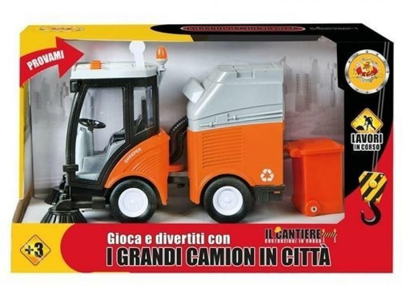 decar2 decar2 veicolo camion pulisci strade cm 18x30 - funzioni luci e suoni