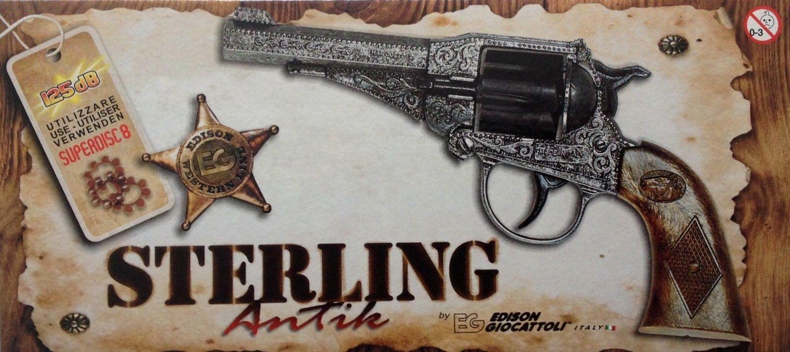 edison giocattoli edison giocattoli pistola sterling antik 8 colpi 125db