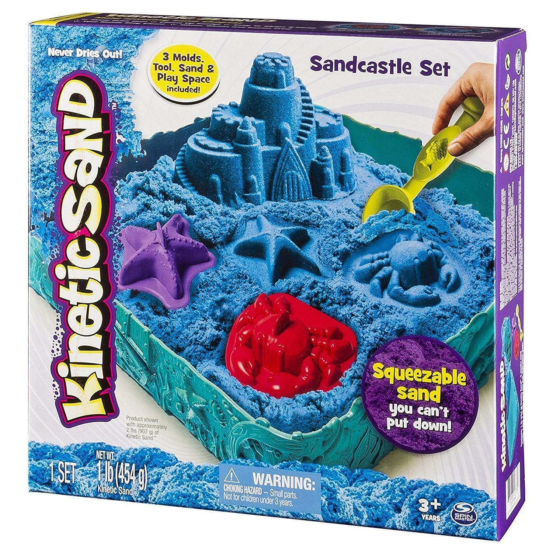 spin master kinetic sand - playset castelli di sabbia
