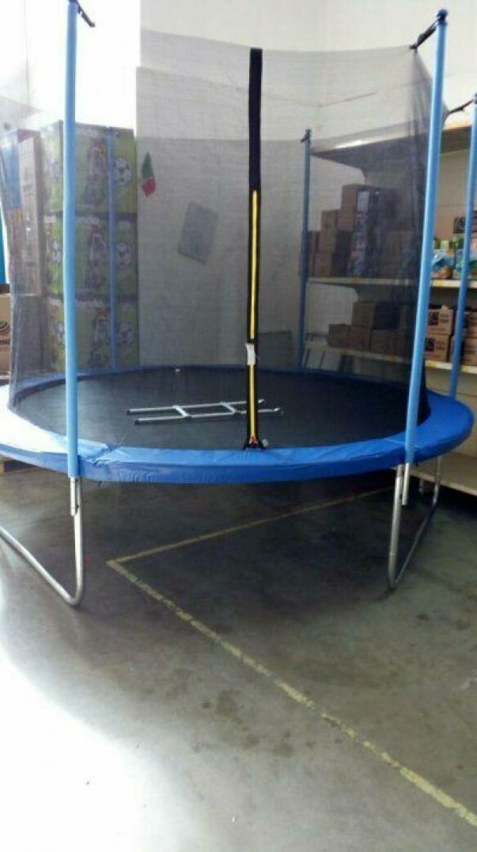 giocattoli trampolino tappeto elastico cm 300x180 con scala