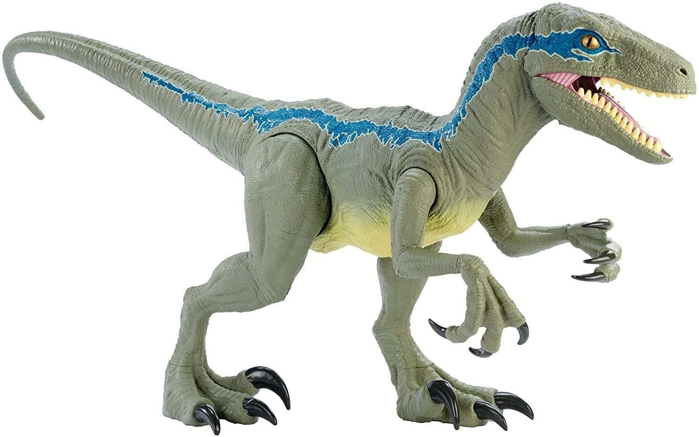 hasbro hasbro jurassic world - dino rivals velociraptor blu 37 cm
