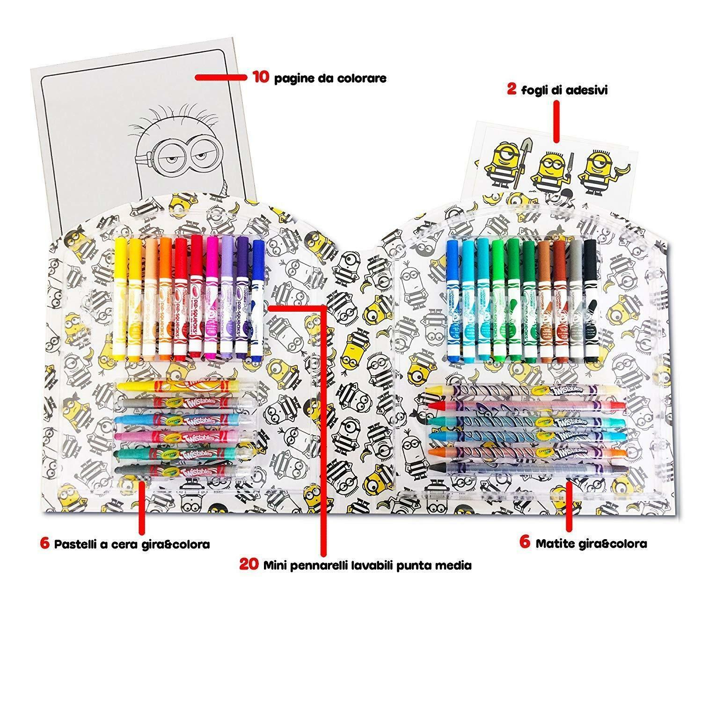 crayola valigetta creativa cattivissimo me 3 per colorare e disegnare