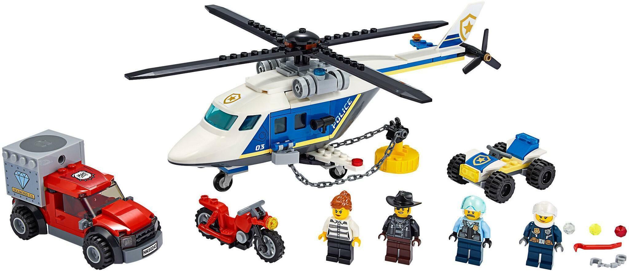 lego lego city 60243 - inseguimento sullelicottero della polizia