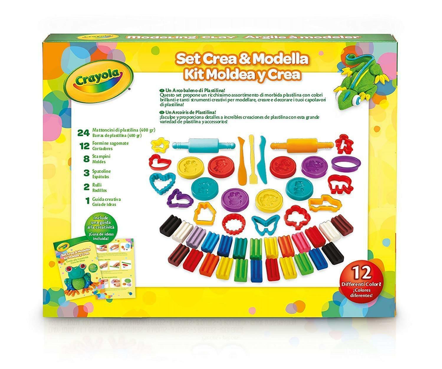 crayola set crea e modella plastilina