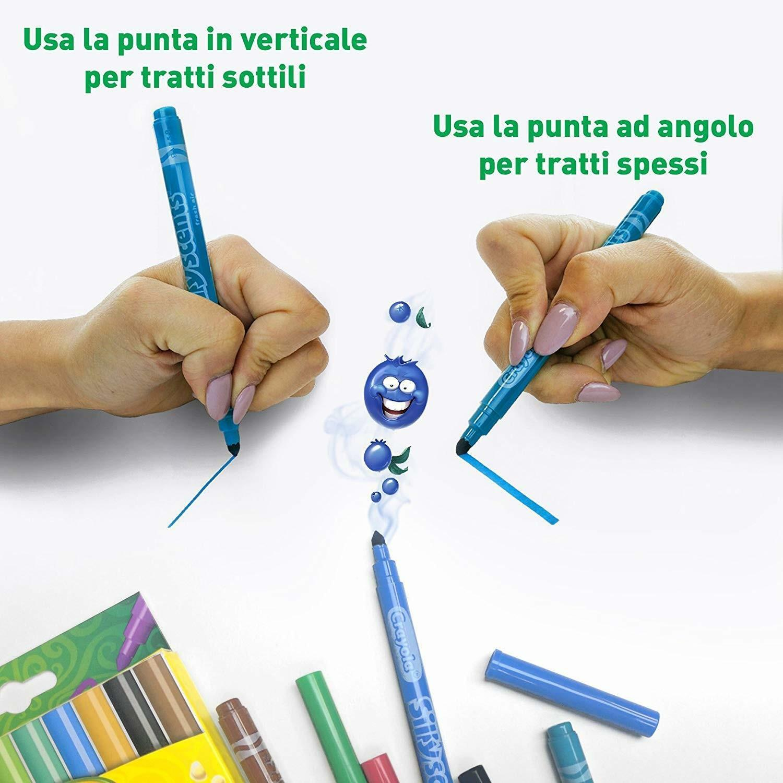crayola 10 pennarelli lavabili punta media i profumelli