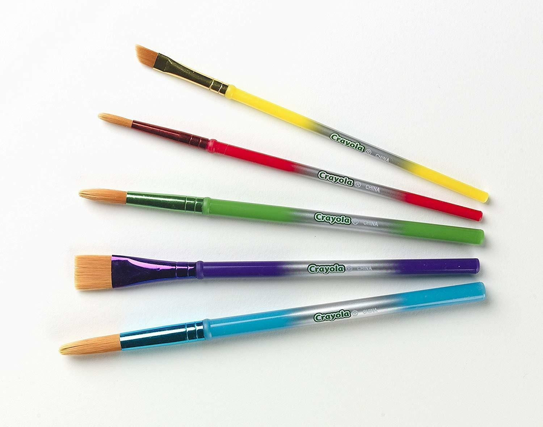 crayola pennelli assortiti 5 pz