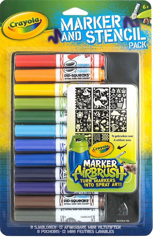 crayola pennarelli e stencil set boy