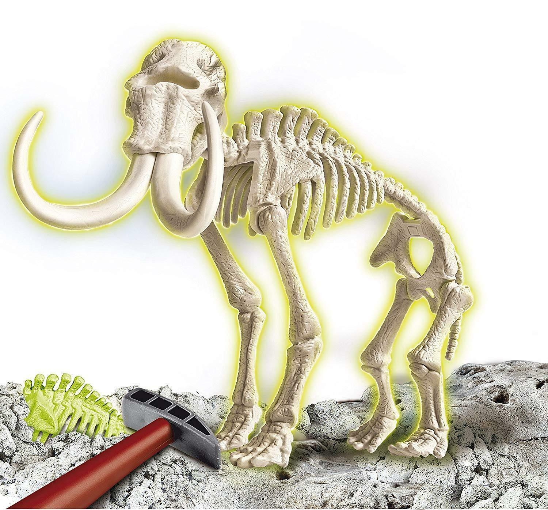 clementoni scienza & gioco - archeogiocando mammut luminoso al buio 13978